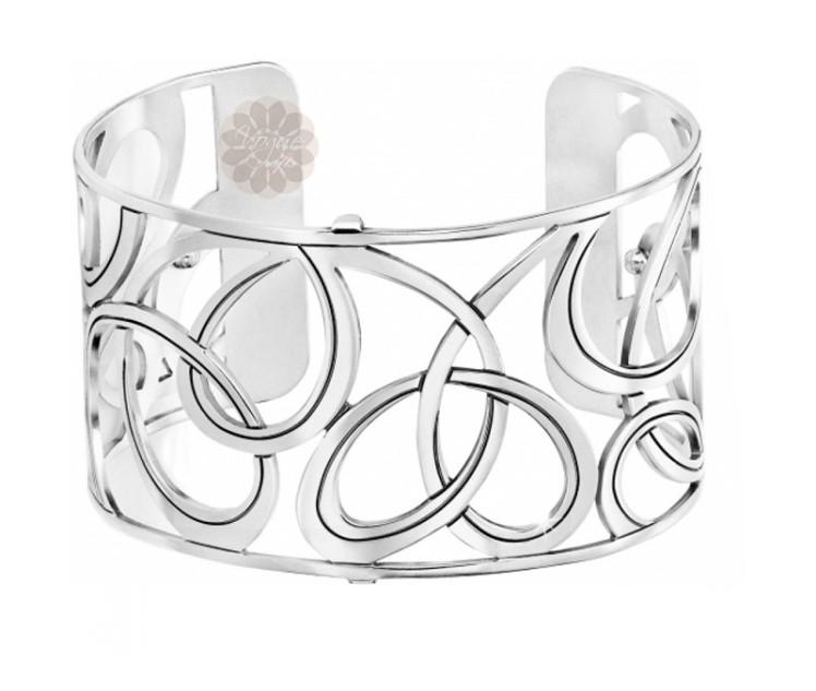 Loop Pattern Silver Cuff